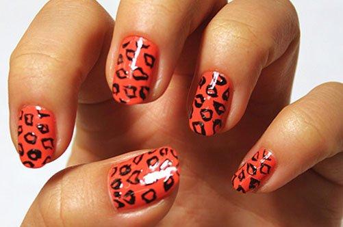 модный леопардовый дизайн ногтей осень 2013 фото