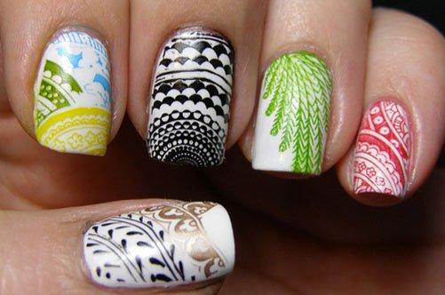 модный необычный дизайн ногтей осень 2013 фото