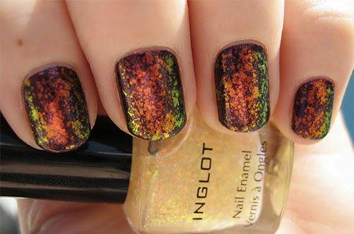модный дизайн ногтей осень 2013 магнитным лаком фото