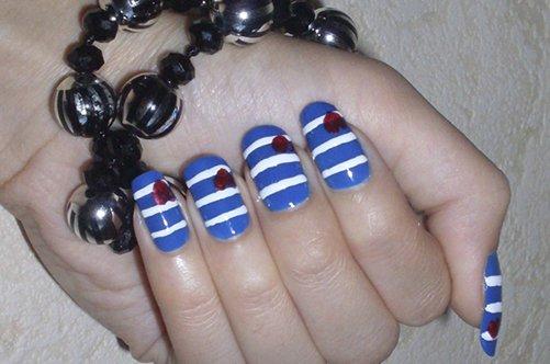 дизайн ногтей морской фото