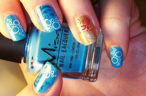 летний морской дизайн ногтей фото