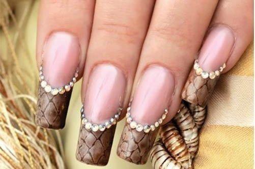 дизайн ногтей гелем цветной френч фото