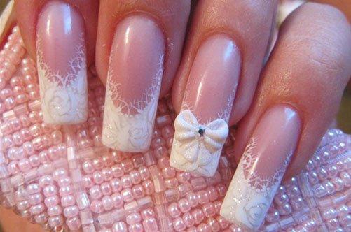 нежный дизайн ногтей френч фото