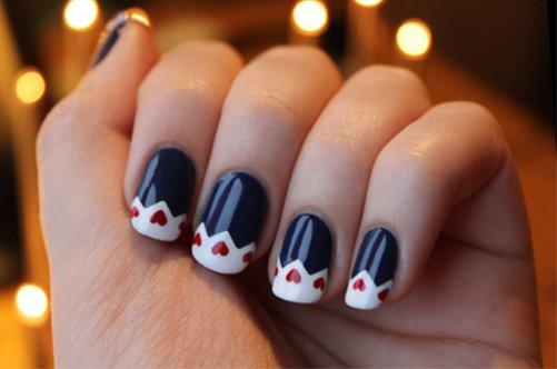 новые дизайны ногтей 2013 необычный френч фото
