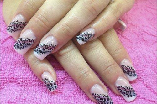 новый дизайн ногтей леопардовый френч фото