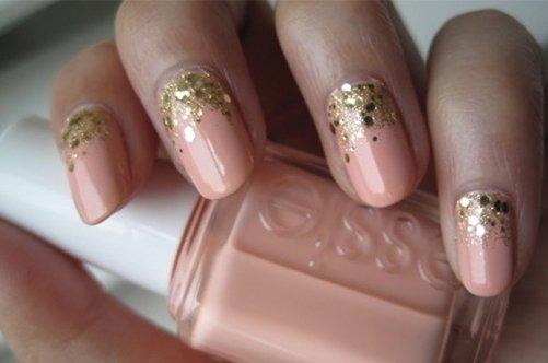 розовый дизайн ногтей 2013 с блестками фото