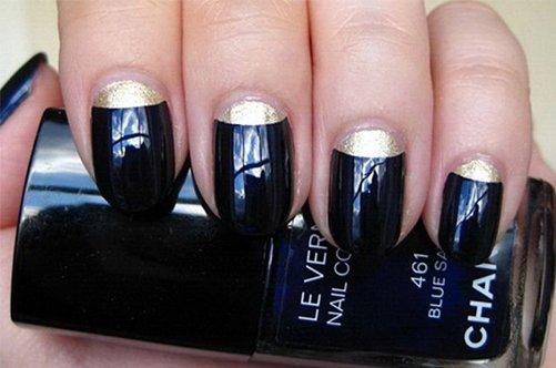 новинки дизайна ногтей 2013 черный лунный маникюр фото
