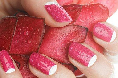 новинки дизайна ногтей 2013 красный лучнный маникюр фото