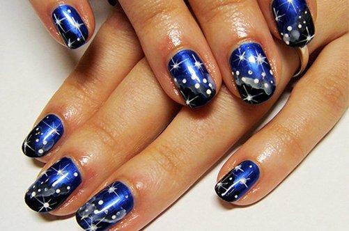 новинки дизайна ногтей 2013 маникюр космос фото