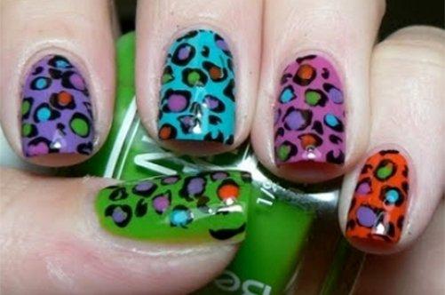 цветной леопардовый дизайн ногтей 2013 фото
