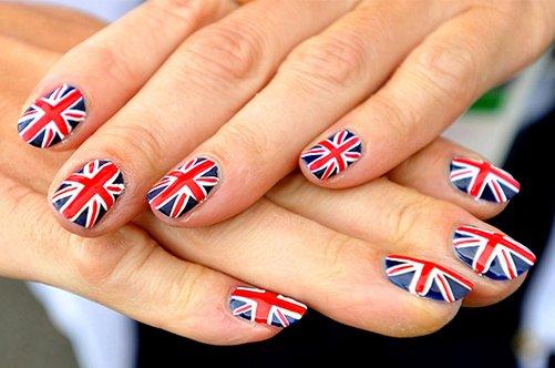 оригинальный дизайн ногтей флаги фото
