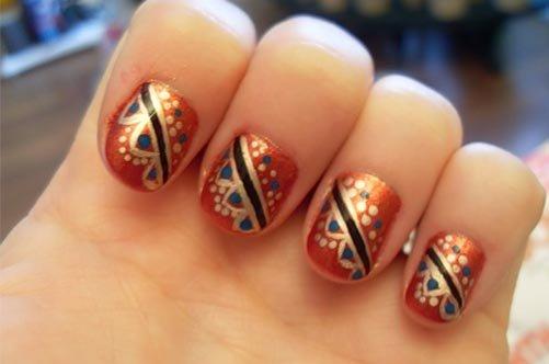 осенний дизайн коротких ногтей фото