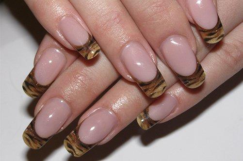 осенний дизайн ногтей 2013 леопардовый френч фото