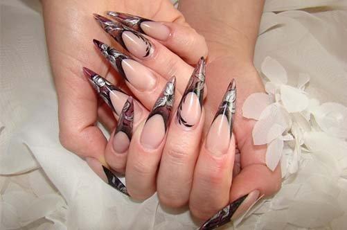 осенний дизайн ногтей 2013 сотрые ногти френч фото
