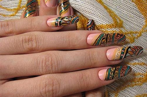 осенний дизайн наращенных ногтей фото