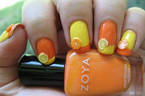 прикольный дизайн ногтей фрукты фото