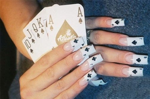 прикольный дизайн ногтей карты фото
