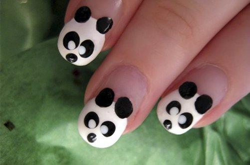 прикольный дизайн ногтей панда фото