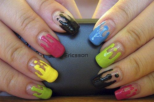 прикольный цветной дизайн ногтей фото