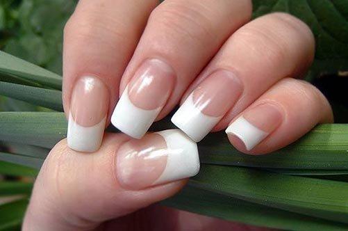 простой дизайн ногтей френч фото