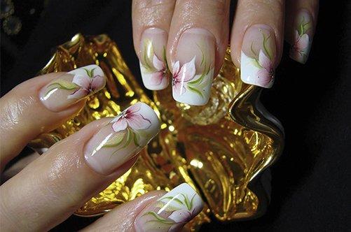 дизайн и роспись акриловых ногтей фото