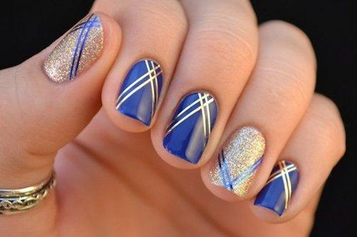 шикарный дизайн ногтей с узором фото