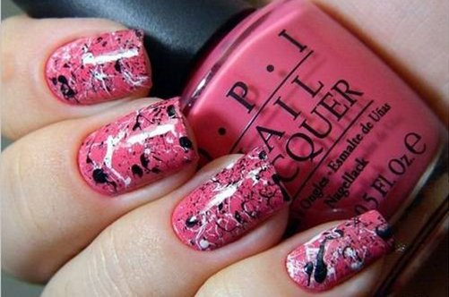 шикарный розовый дизайн ногтей фото