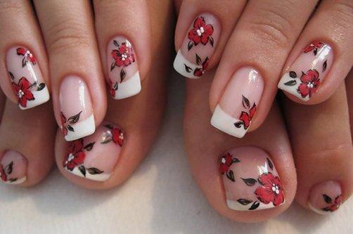 фото дизайна ногтей френч с рисунками фото