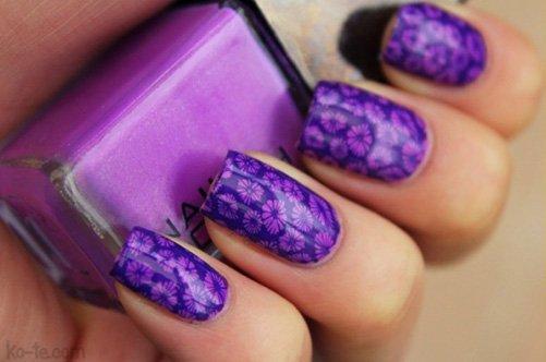 дизайн ногтей с трафаретами фото