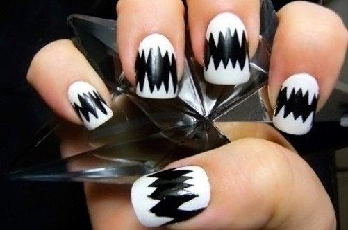 модный дизайн ногтей лето 2013 черный рисунок фото