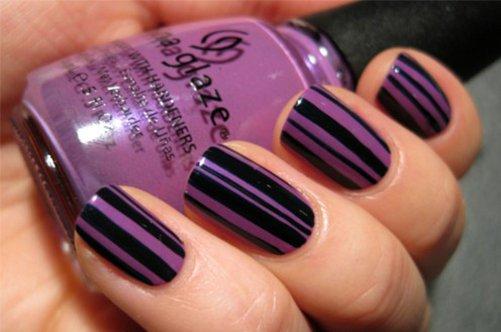фото летнего дизайна ногтей с полосками