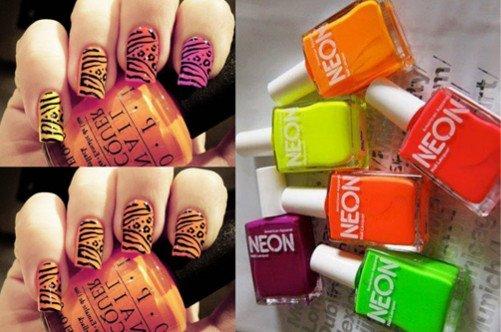фото яркого летнего дизайна ногтей