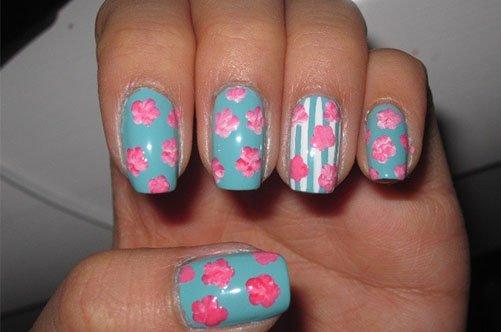 летний дизайн ногтей с цветами фото
