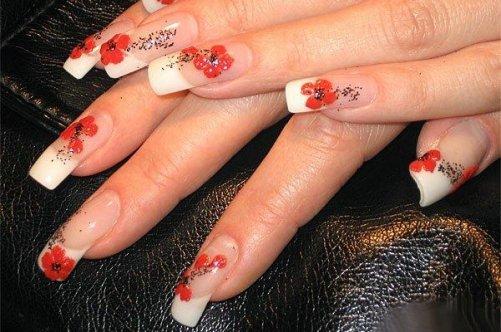 дизайн нарощенных квадратных ногтей: