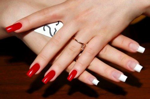 Нарощенные ногти под лак фото