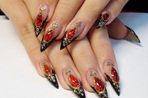 Дизайны ногтей с камнями видео