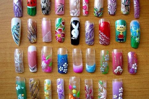 Накладные ногти в домашних условиях с