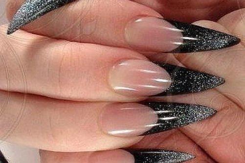 Как сделать острые ногти фото