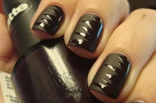 Темные ногти дизайн фото