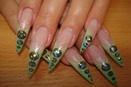 фото рисунков на ногтях нарощенных