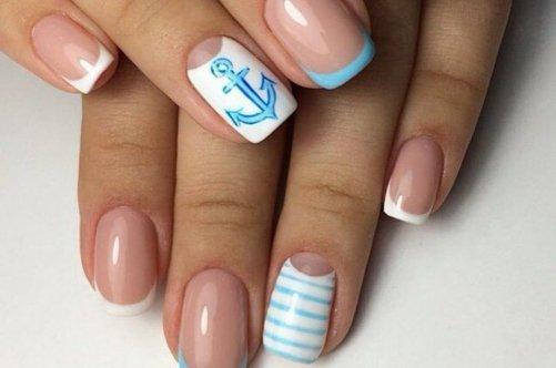 Дизайн ногтей в бирюзовых тонах