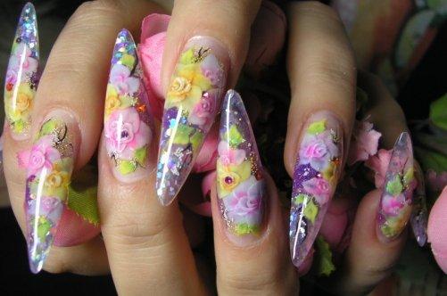 Ногти аквариум фото