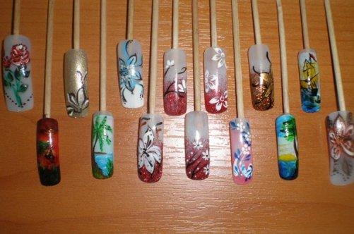 Что использовать для росписи ногтей