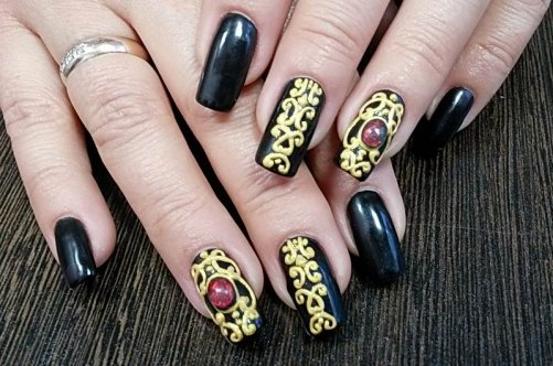 Рисунок на ногтях материалы